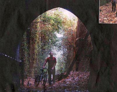 The entrance of the old Caversham rail tunnel, which he wants opened to the public as a walking and cycling track.